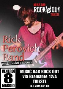 locandina rick perovich band 8 maggio