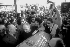 Funerale Pasolini, Foto Claudio Ernè, foto fornita daTeatro Stabile FVG