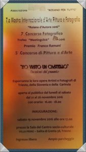 Roiano per Tutti: Mostra Internazionale d'Arte, Pittura e Fotografia n.7